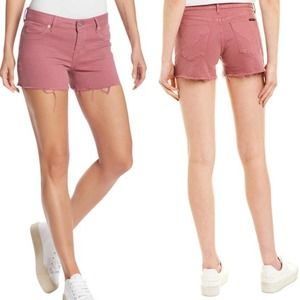Hudson Jeans Amber Raw Hem Shorts in Brush Orchid